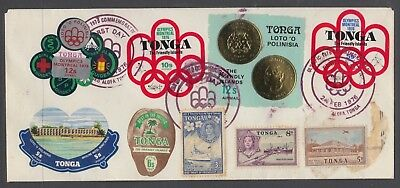 TONGA 1976 Olympic FDC With added Stamps FINE USED