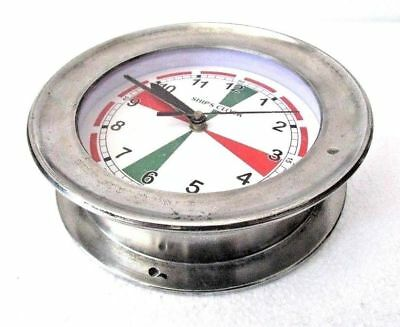 LARGE - SHIP'S CLOCK – Marine RADIO ROOM Clock –  BOAT / NAUTICAL (5009A)
