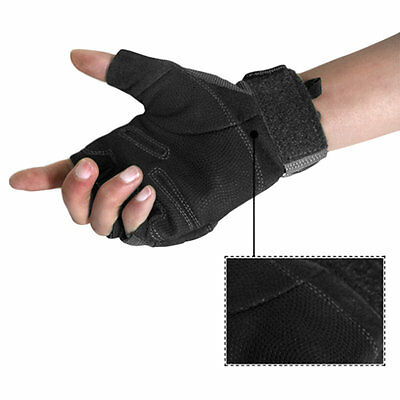 2 x Santo Outdoor Tactical Lightweight Semi Finger Knuckle Spandex Gloves NI