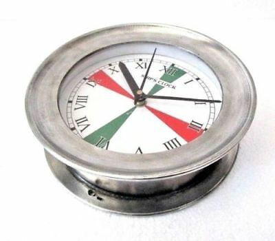 LARGE - Marine RADIO ROOM Clock – ROMAN - BOAT / NAUTICAL(5009B)