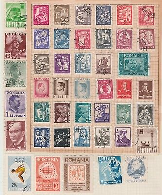ROMANIA COLLECTION Olympics, Communications, Satellite etc on Old Book Pages #
