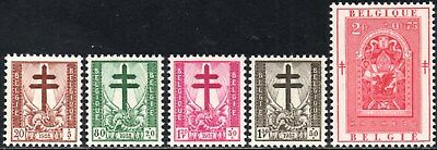 Belgium 1952 Anti-Tuberculosis & Other Funds  SG.1416/1420  Mint (Hinged)