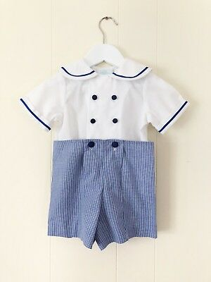 Vintage Boys Nautical Outfit. Size 18 Months