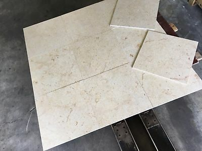 Jura Bone Limestone tiles, Honed Jura Bone Floor/Wall Tiles, Marble 457x457x12mm