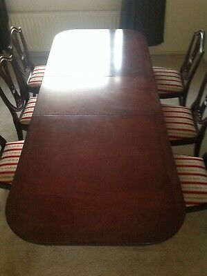 Mahogany Dining Table 6 Chairs, Side Board And Dresser