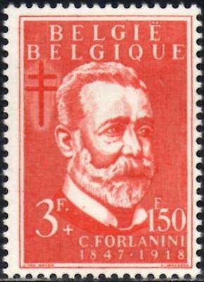 Belgium 1953 Anti-Tubercolosis & Other Funds 3f.+ 1.50 Red  SG.1512  Mint Hinged