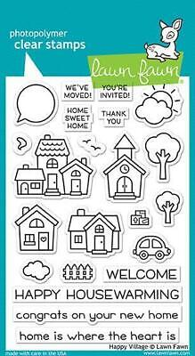 Lawn Fawn Stamps Happy Village LF1591