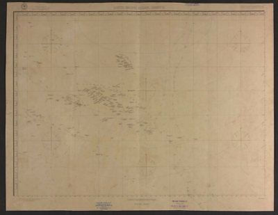 South Pacific Ocean. French Polynesia Cook Islands. US Navy sea chart 1895 map