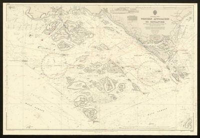 Singapore Strait. Western Approaches. Admiralty nautical sea chart 1969 map