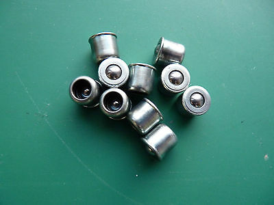 10 x 6mm PRESS FIT BUTTON OILERS OIL LUBE POINTS LUBRICATION NIPPLES LATHE MILL