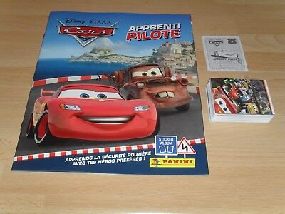 110 Images Neuves Panini Disney Pixar Cars Apprenti Pilote + Album Vide