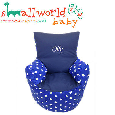 Personalised Royal Star And Navy Toddler Bean Bag Chair (NEXT DAY DISPATCH)