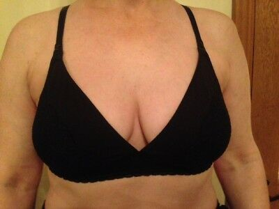Mothercare Blooming Marvellous Maternity Black Lace Soft Cup Nursing Bra 36Dd