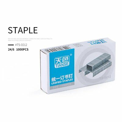 100pcs/10rows TIANSE Staples Rectangular Silver TS0012 Staples Size 24x6mm NI