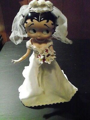 "13"" Danbury Mint Betty Boop Wedding Bride Porcelain Bridal Beauty Syd Hap Doll"