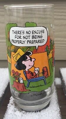 VINTAGE McDONALDS CAMP SNOOPY  GLASS - Lucy