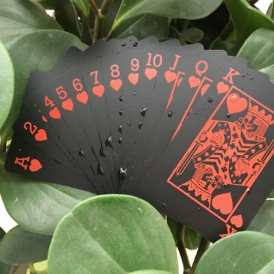 Creative Playing Cards Black Plastic Waterproof Poker Cards Party Games Toys N1