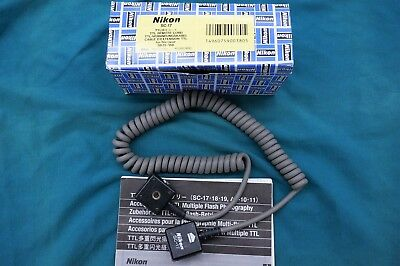 Genuine Nikon SC-17 Remote TTL Coiled Flash Sync Cord