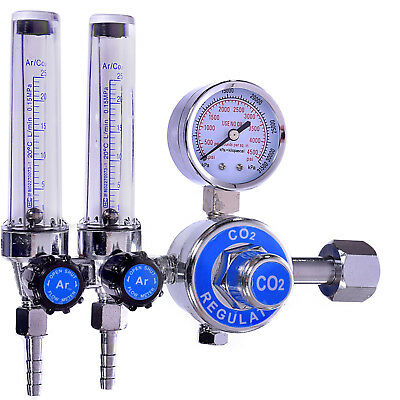 0-25MPa CO2 ARGON Gas Mig Tig Flow Meter Double Gauge For Mig Welding Weld