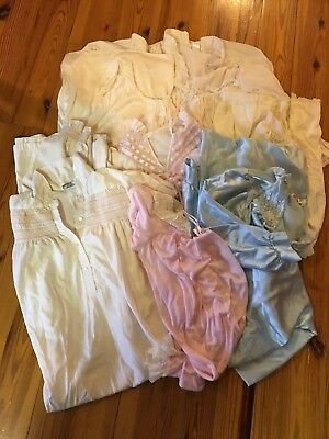 VTG LOT 7 NIGHTGOWNS COLORS  LILY FRANCE Character pink blue cream