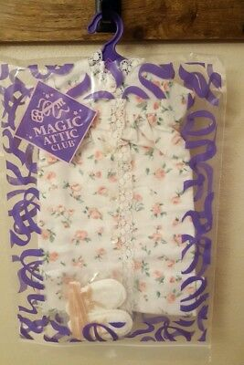 MAGIC ATTIC CLUB Rose Flannel Nightgown & Slippers Doll Outfit #3303 R - NEW