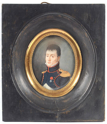 """Portrait of a Napoleonic officer"", French miniature, early 19th century"