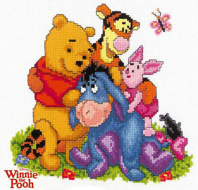 Holidays Winnie The Pooh Butterfly, Disney's Cross Stitch Pattern