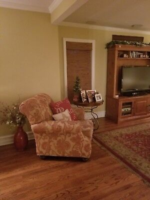 Ethan Allen Sectional Couch, Chair and Coffee Table. Good condition. Pics recent