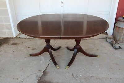 Vintage Henkel Harris Mahogany Dining Room Table 4 Leaves & 8 Chairs Mahogany