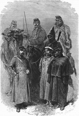 RUSSIA. Russian troops 1880 old antique vintage print picture