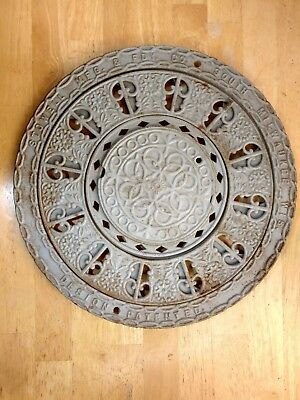VINTAGE CAST IRON FLOOR REGISTER HEAT GRATE VENT 3 PIECE ca 1890