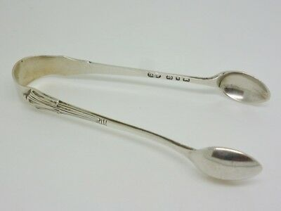 Antique 1888 Deakin & Francis Solid Sterling Silver Albany Sugar Tongs/Nips