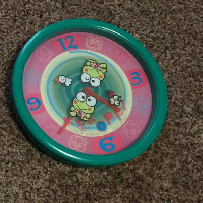 Sanrio Keroppi 1997 Vintage Clock 1999 Container Great condition Used