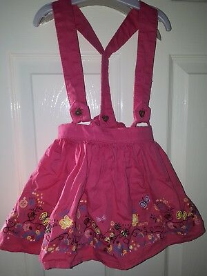 girls skirt with braces 12-18 months pink TU
