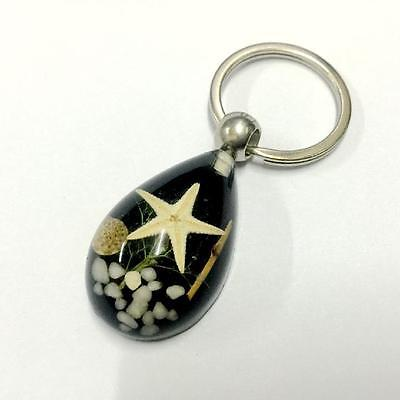 cool design starfish jewelry  sea star black drop key-chains  free ship mm001