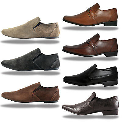 Red Tape REAL LEATHER Slip ON Loafer Dress Shoes From Only £9.99