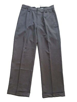 1940s Vintage Style Grey Fishtail Look Trousers With Turn Up Hems