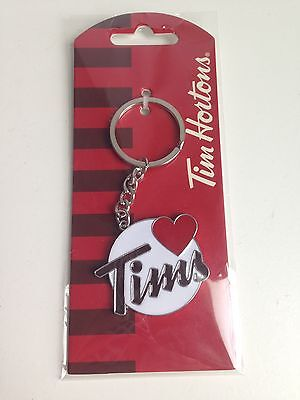 TIM HORTONS - I LOVE TIMS Metal Keychain Key Chain BRAND NEW Collectible