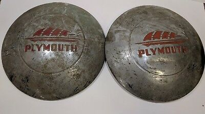 Vintage Plymouth Hubcap Set of 2