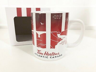TIM HORTONS Travellers Collection ATLANTIC CANADA Ceramic Mug Cup, 2016, BOXED