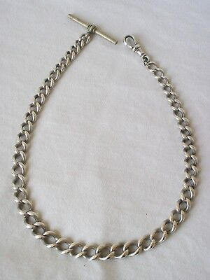 Antique Sterling Silver Graduated Albert Watch Chain. H.B & S. 47.4gm.