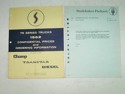 1962 Studebaker Confidential Dealer Truck and Accessories Price Booklets (2)