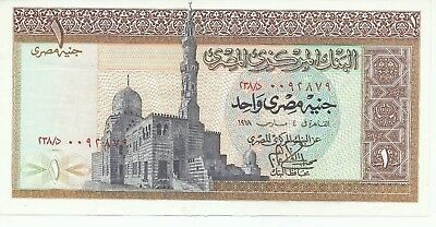 Egypt 1 Pound old paper money in very good AUC condition as shown in the picture