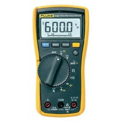 Genuine FLUKE 115 Digital Handheld HVAC Multimeter True RMS, CAT III 600 V, UK