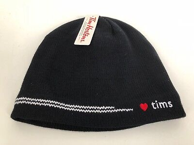 TIM HORTONS Knit Adult Winter Beanie Hat 2012 Unisex Heart Tims - NEW WITH TAGS