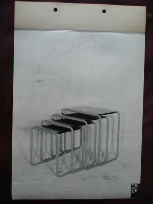 Rare 1930 EARLY ART DECO METAL FURNITURE Photograph from BUDD MFG. CO. Archives