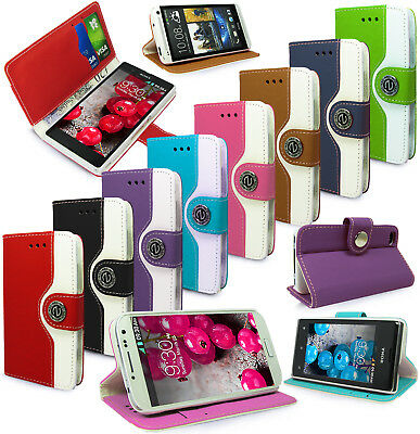 Retro Luxury Pu Leather Wallet Flip Book Card Slots Case Cover For Mobile Phones