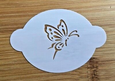 Face paint stencil reusable washable butterfly Mylar 2.5 in x 1.75