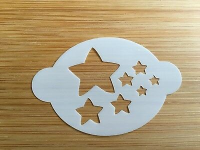 Face paint stencil reusable washable Father Christmas stars Mylar 2.5 in x 1.75