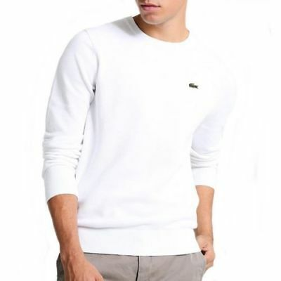 Pull - Lacoste - Homme - Blanc - Col Rond - 100% Coton - S M L XL XXL